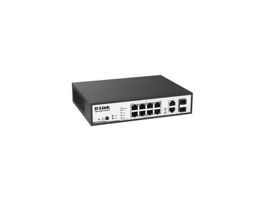 Коммутатор D-LINK DES-1100-10P/A1A управляемый 8 портов 10/100Mbps