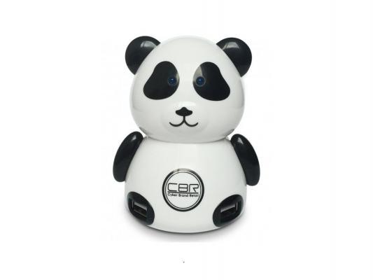 Концентратор USB CBR MF-400 Panda 4 порта панда черно-белый