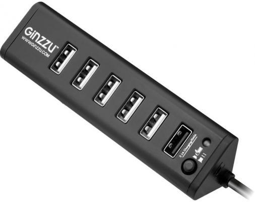 Концентратор USB Ginzzu GR-315UB 7 портов черный
