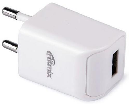 Сетевое зарядное устройство Ritmix RM-111 USB 1A белый