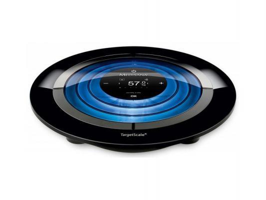 Весы напольные Medisana Target Scale 2 чёрный голубой