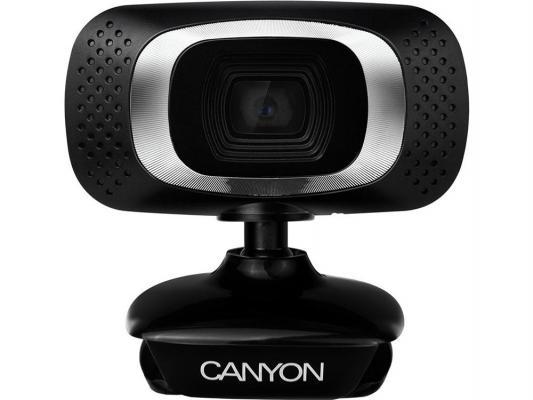 Веб-Камера Canyon CNE-CWC3 черный-серебристый
