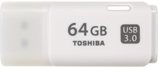 Флешка USB 64Gb Toshiba Hayabusa THN-U301W0640E4 белый toshiba toshiba transmemory thn u301w0640e4 64гб белый пластик usb 3 0
