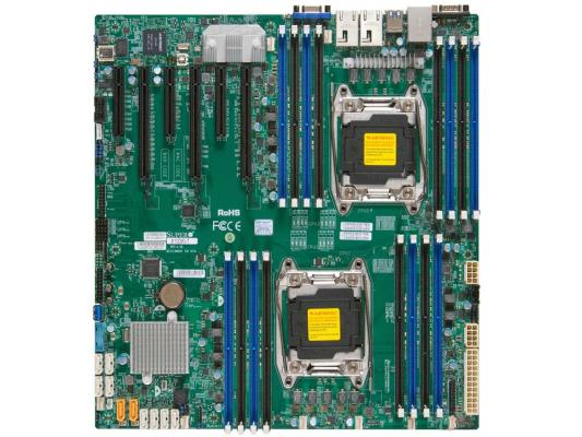 Материнская плата Supermicro MBD-X10DRI-B LGA2011 iC612 16xDDR4 3xPCI-E 16x 3xPCI-E 8x 10xSATA3 2xGLAN eATX OEM ems dhl free shipping toddler little girl s 2017 princess ruffles layers sleeveless lace dress summer style suspender