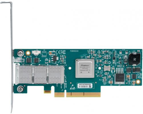 Сетевой адаптер Mellanox ConnectX-3 VPI adapter card single-port QSFP FDR IB 56Gb/s MCX353A-FCBT сетевой адаптер mellanox connectx 3 pro en network interface card 10gbe single port sfp pcie3 0 x8 8gt s tall bracket rohs r6 mcx311a xcct