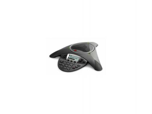 Телефон Polycom SoundStation2 для конференций черный 2200-16200-122 блок питания polycom 2200 17670 122 для ip телефонов soundpoint 560 670 vvx 500 1500