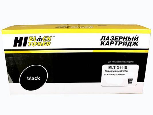 Картридж Hi-Black MLT-D111S для Samsung SL-M2020/2020W/2070/2070W черный 1500стр sakura mlt d203e black тонер картридж для samsung sl m3820 m3870 m4020 m4070 m4072