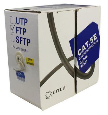 Кабель F/UTP indoor 4 пары категория 5e 5bites одножильный 24AWG CCA PVC 305m FS5505-305A сетевой кабель 5bites ftp solid 5e 24awg copper pe outdoor messenger drum 305m black fs5505 305ce m