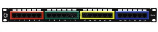 "Патч-панель 5bites LY-PP5-09 UTP 5e кат 24 портов Krone&110 dual IDC 19"""