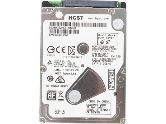 "Жесткий диск для ноутбука 2.5"" 500 Gb 7200rpm 32Mb cache Hitachi Travelstar Z7K500 SATAIII Z7K500 0J38075 DA65140C54 HTS725050A7E630"