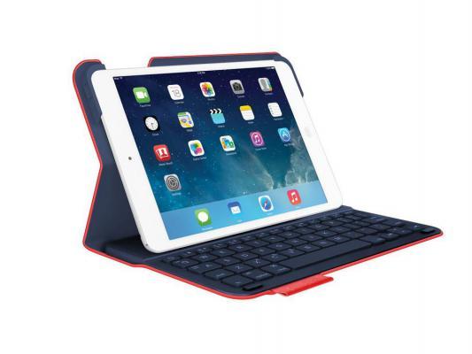Клавиатура беспроводная Logitech Keyboard Folio для iPad mini красный 920-006151