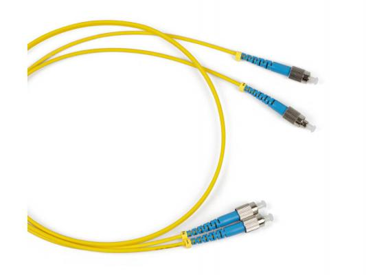 Патч-корд волоконно-оптический  Hyperline  FC/UPC-FC/UPC duplex LSZH 1м желтый FC-9-FC-FC-UPC-1M