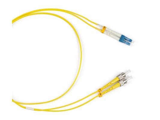 Патч-корд Hyperline FC-D2-9-LC/UR-ST/UR-H-1M-LSZH-YL (FC-9-ST-LC-UPC-1M) волоконно-оптический шнур 1м цена и фото