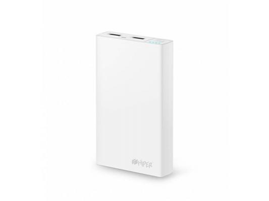 Портативное зарядное устройство HIPER Power Bank RP12500 12500мАч белый портативное зарядное устройство hiper power bank xp6500 6500мач черный