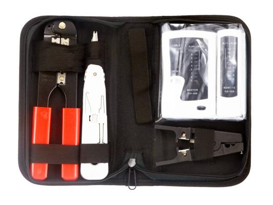 Набор инструментов Gembird TK-NCT-01 4 предмета  набор инструментов gembird cablexpert tk home 01 24 предмета