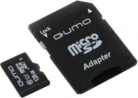 Карта памяти Micro SDXC 128Gb class 10 UHS-I QUMO QM128GMICSDXC10U1 + SD adapter archimap карта самары 1920 1940
