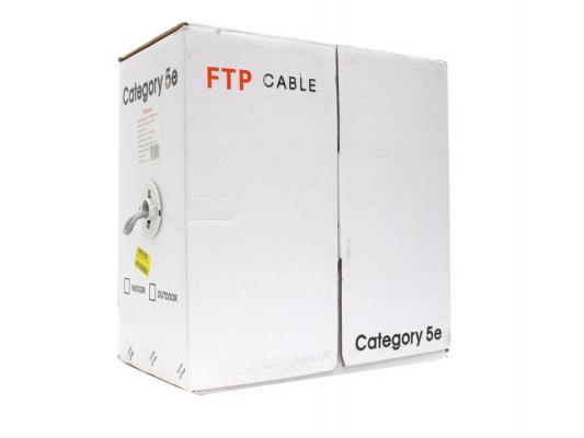Кабель FTP кат. 5е 4 пары Telecom FTP4-TC305C5EN-CCA-IS серый 305м