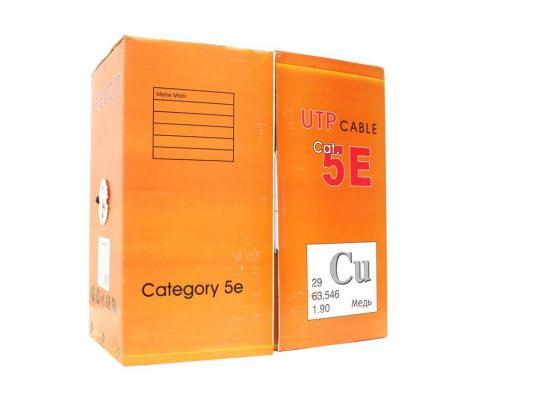 Кабель UTP 4 пары категория 5E Telecom UTP4-TC1000C5EN(P)-CU-OS черный 305м