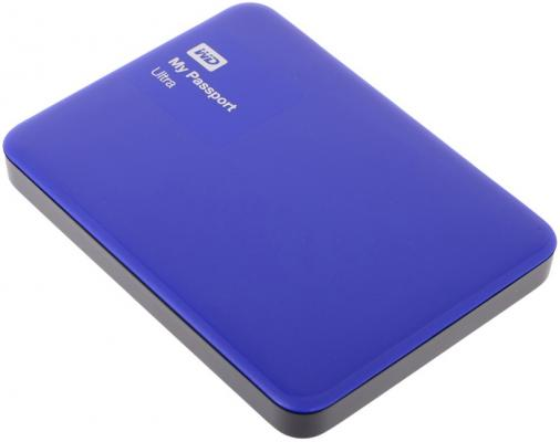 Внешний жесткий диск 2.5 USB3.0 500Gb Western Digital My Passport Ultra WDBBRL5000ABL-EEUE синий