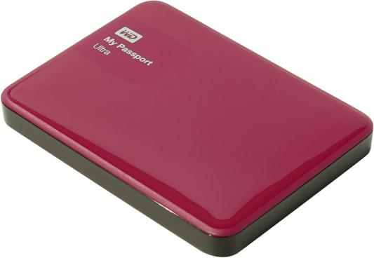 "Внешний жесткий диск 2.5"" USB3.0 500Gb Western Digital My Passport Ultra WDBBRL5000ABY-EEUE красный"