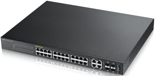 Коммутатор Zyxel GS2210-24HP управляемый 24 порта 10/100Mbps 4xSFP zyxel gs2210 24