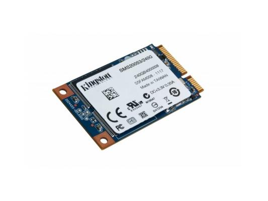 Твердотельный накопитель SSD mSATA 240GB Kingston SSDNow mS200 Read 540Mb/s Write 530Mb/s SMS200S3/240G kingston kc1000 960gb ssd накопитель