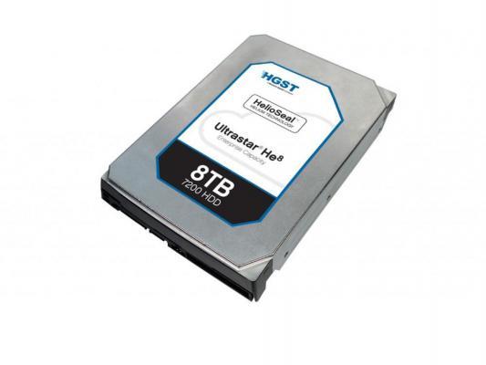 Жесткий диск 3.5 8Tb 7200rpm SAS Hitachi HUH728080AL5204 0F23657 жесткий диск hitachi hts721010a9e630