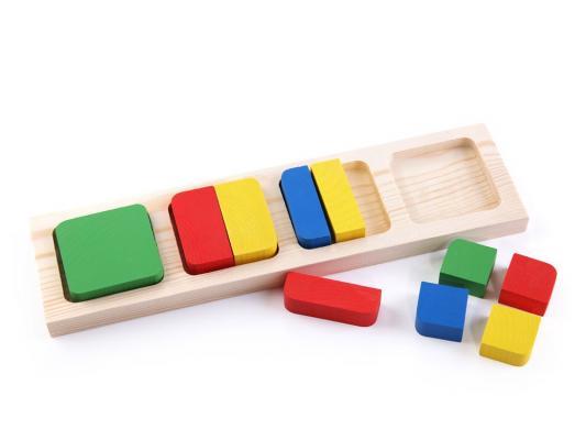 Доска-вкладыш Томик Геометрия квадрат 10 элементов 332