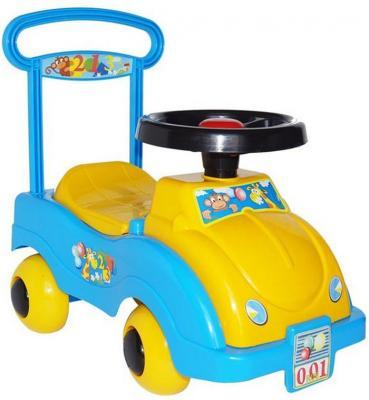 Каталка-машинка Совтехстром Автомобиль №1 желтый от 1 года пластик У438 цена