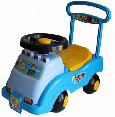 Каталка-машинка Совтехстром Автомобиль №2 голубой от 1 года пластик У439 каталка на палочке совтехстром вертолёт пластик от 1 года зеленый у499