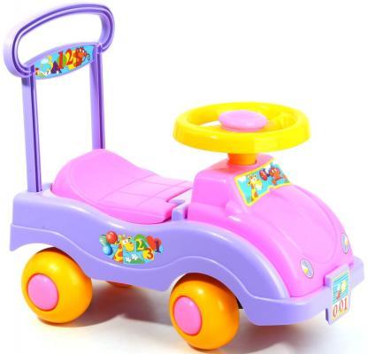Каталка-машинка Совтехстром Автомобиль для девочек цвет в ассортименте от 1 года пластик У447 каталка на палочке совтехстром вертолёт пластик от 1 года зеленый у499
