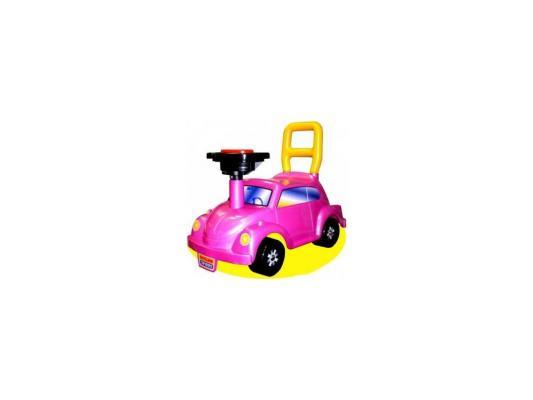 Каталка-машинка Нордпласт Go! Розовое чудо розовый от 2 лет пластик 431012/1