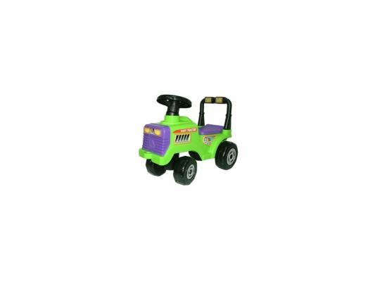 Каталка-машинка Полесье Трактор Митя №2 зеленый от 2 лет пластик 9196 машина детская полесье полесье каталка трактор митя