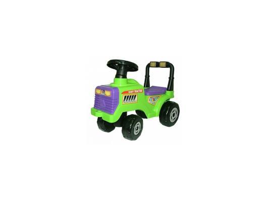 цена Каталка-машинка Molto Трактор Митя зеленый от 1 года пластик 7956