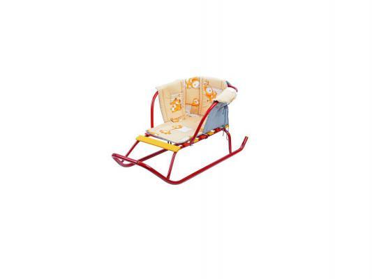 Сиденье для санок Ника с подлокотником разноцветный ткань СС2 в ассортименте