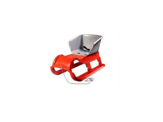 Санки Пластик Снежная звезда до 60 кг разноцветный пластик Пл-С89 в ассортименте