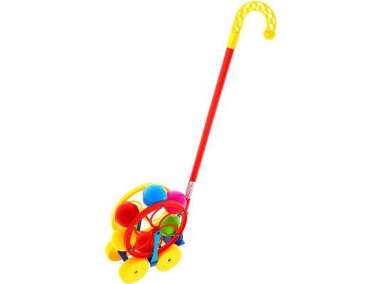 Каталка на палочке Karolina Toys Карусель разноцветный от 1 года пластик 40-0033