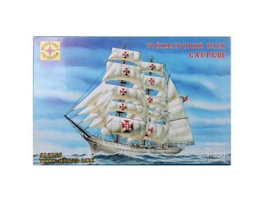 Корабль Моделист трехмачтовый барк Сагреш 1:350 белый 135041 самолёт моделист палубный супер этандар 1 72 207215