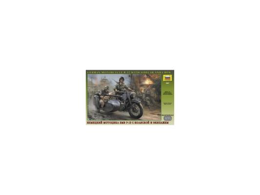 Мотоцикл Зезда БМ Р-12 с коляской и экипажем 1:35 3607