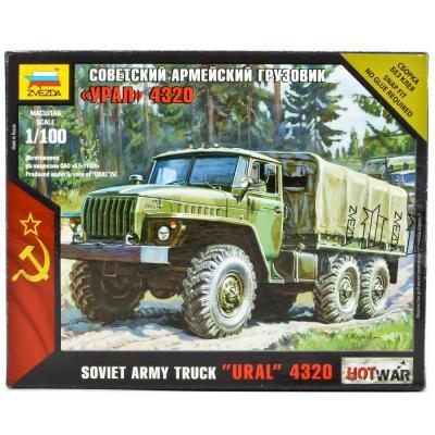 Купить Модель Советский армейский грузовик Урал 4320 Звезда 7417, ЗВЕЗДА, Военная техника