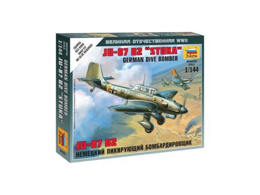 Самолёт Звезда Немецкий бомбардировщик Ju-87B2 1:144 серый