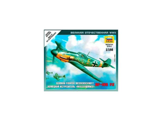Самолёт Звезда Мессершмитт BF-109 F2 1:144 6116