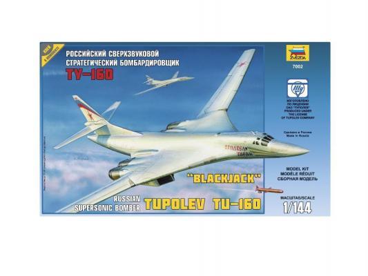 Самолёт Звезда Российский сверхзвуковой стратегический бомбардировщик Ту-160 1:144 7002