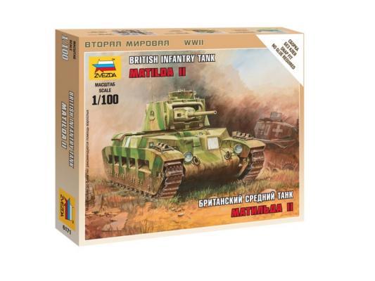 Танк Звезда Матильда II британский средний 1:100 6171 танк звезда матильда ii британский средний 1 100 6171