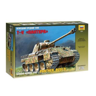 Танк Звезда Т-V Пантера немецкий средний 1:35 коричневый 3678 танк звезда матильда ii британский средний 1 100 6171