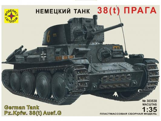 Купить Танк Моделист 38(t) Прага 1:35 303538, н/д, Военная техника