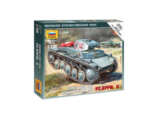 Танк Звезда Pz.Kp.fw II немецкий лёгкий 1:100 6102 грузовик немецкий опель блиц 1 100