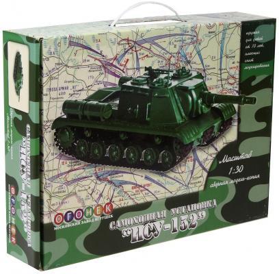 Танк Огонек ИСУ-152 1:30 зеленый С-40 новая упаковка спот glocke 1583 3c