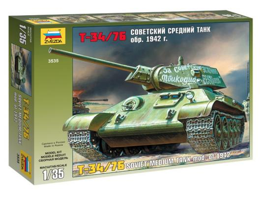Танк Звезда Т-34/76 образца 1942 г. 1:35 3535