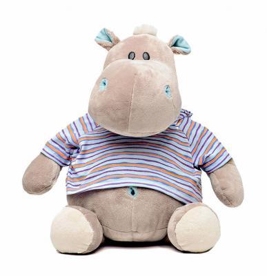 Мягкая игрушка бегемот Orange МС1983/20 текстиль плюш серый 20 см 6938802812405